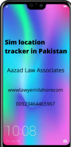 Sim location tracker in Pakistan
